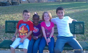 Precious kiddos.  We enjoyed a fun time at the park the other day (65 degrees in late November is amazing)!!