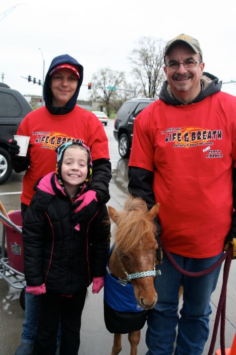 One of our favorite parts of the morning.  The mini horses that came to walk with our team.  BLESSING!!