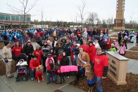 Another attempt at getting a group picture.  It was hard, with the cold and rain.  We were so thrilled to see this turnout.  We truly felt the love on this morning.