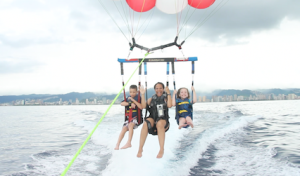 Parasailing!  Experience of a lifetime.
